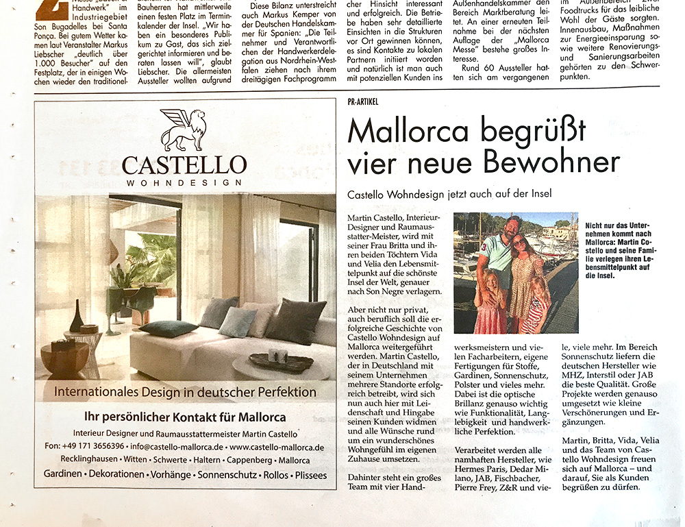 Castello Wohndesign Raumausstatter Meisterbetrieb In Olfen